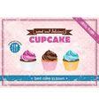 retro cupcake poster vector image vector image