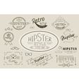 Retro hipster stamps collection vector image vector image