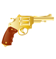 Revolver from gilded metal vector image vector image