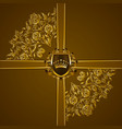 royal background with ornament shield gold crown vector image