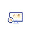 seo computer line icon search engine optimization vector image vector image