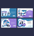 seo landing page internet analytic business and vector image vector image