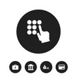 set of 5 editable finance icons includes symbols vector image vector image