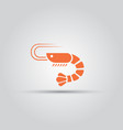 shrimp isolated icon seafood sign vector image vector image