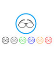spectacles rounded icon vector image vector image