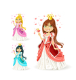 The beautiful fairy princess in a different color vector image vector image