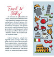travel to italy informarive travel agency promo vector image vector image