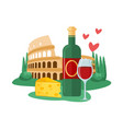 travel to italy italian antique architecture vector image