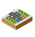 urban isometric parking vector image