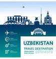 uzbekistan travel destination vector image vector image