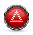 warning light button car dashboard element vector image