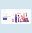 web site design template adventure travel vector image vector image