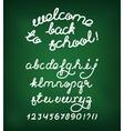 Welcome back to school Handwritten alphabet vector image