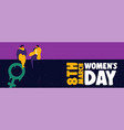 womens day 8th march web banner of girl friends vector image vector image