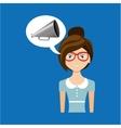 beautiful girl concept cinema movie speaker icon vector image