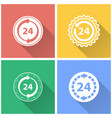 24 hour service - icon vector image vector image