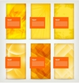 Abstract Yellow Banners vector image vector image