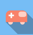 ambulance emergency vehicle icon ambulance car vector image