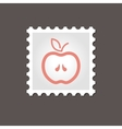 Apple stamp Outline vector image