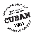 Authentic cuban product stamp vector image vector image