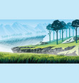 background of a mountain landscape vector image vector image