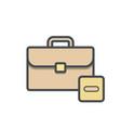 bag briefcase business portfolio stop vector image vector image