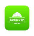 bakery icon green vector image