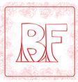 BF monogram vector image vector image