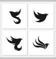 bird flat logo set template design vector image vector image