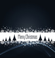 black christmas background with snowflakes vector image vector image