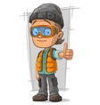 Cartoon boy in orange jerkin vector image vector image