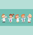 chemistry kids science children school characters vector image vector image