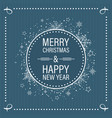 christmas and new year wishes in vintage flat vector image vector image