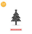 christmas tree icon simple flat style vector image vector image