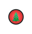 christmas tree with balls new year logo vector image