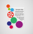 cogwheels and sample text infographics vector image vector image