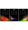 colorful calendar design set vector image vector image
