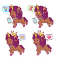 cool colorful afro unicorns with different vector image