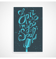 creative poster with Jazz in my soul text vector image