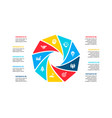 cycle infographic diagram with 9 options vector image