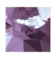 Dark Pastel Purple Abstract Low Polygon Background vector image vector image