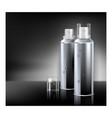 deodorant spray for men promotional banner vector image vector image