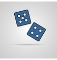 dices icon vector image vector image