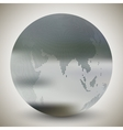 Dotted world globe blurred design vector image vector image