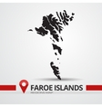 Faroe islands map vector image