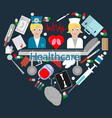 flat 3 set of elements for health care theme vector image