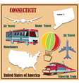 Flat map of Connecticut vector image vector image