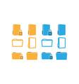 folder icon graphic design template vector image vector image