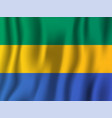 gabon realistic waving flag national country vector image