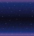 galaxy with stars and geometric graphic style vector image vector image